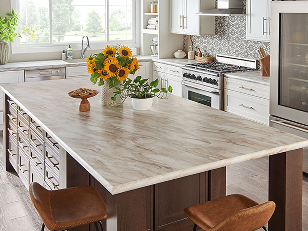 Kitchen with laminate countertop[s